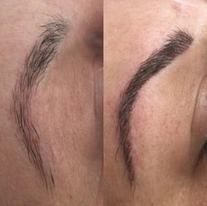 Vorher/Nachher, Permanent Makeup Augenbrauen, 6