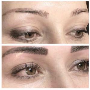 Vorher/Nachher, Permanent Makeup Augenbrauen, 7