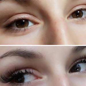 Vorher/Nachher, Permanent Makeup Wimpern, 1