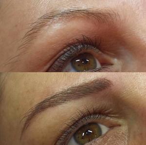 Vorher/Nachher, Permanent Makeup Augenbrauen, 3