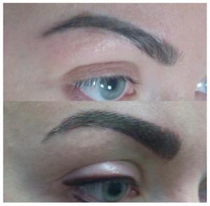 Vorher/Nachher, Permanent Makeup Augenbrauen, 4