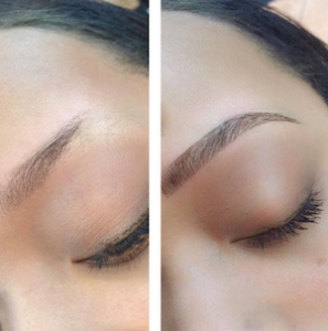 Vorher/Nachher, Permanent Makeup Augenbrauen, 1