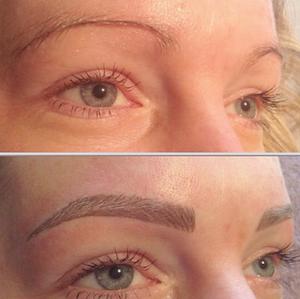 Vorher/Nachher, Permanent Makeup Augenbrauen, 2
